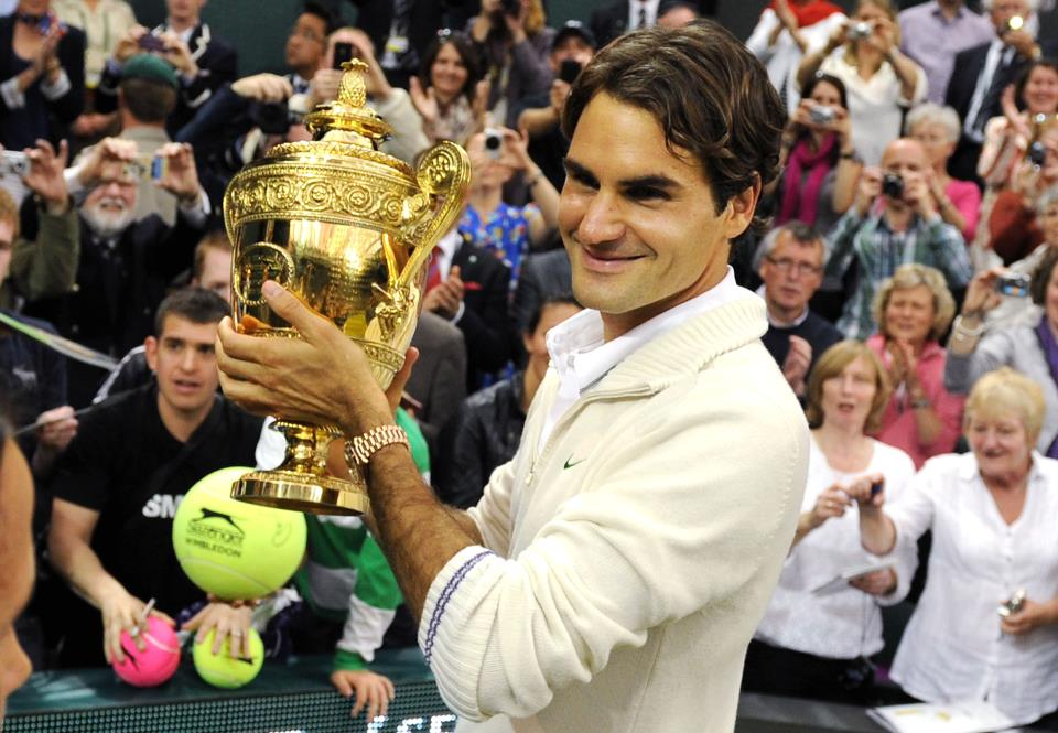 Roger Federer a la main verte!!!