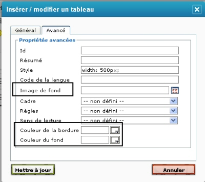 Editer un texte