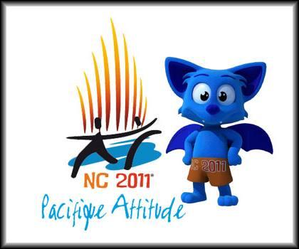 Logo des 14ème Jeux du Pacifique 2011 et Joemy la mascotte