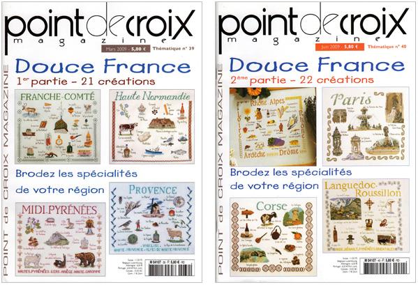 Couvertures des Point de Croix Magazine n°39 et n°40
