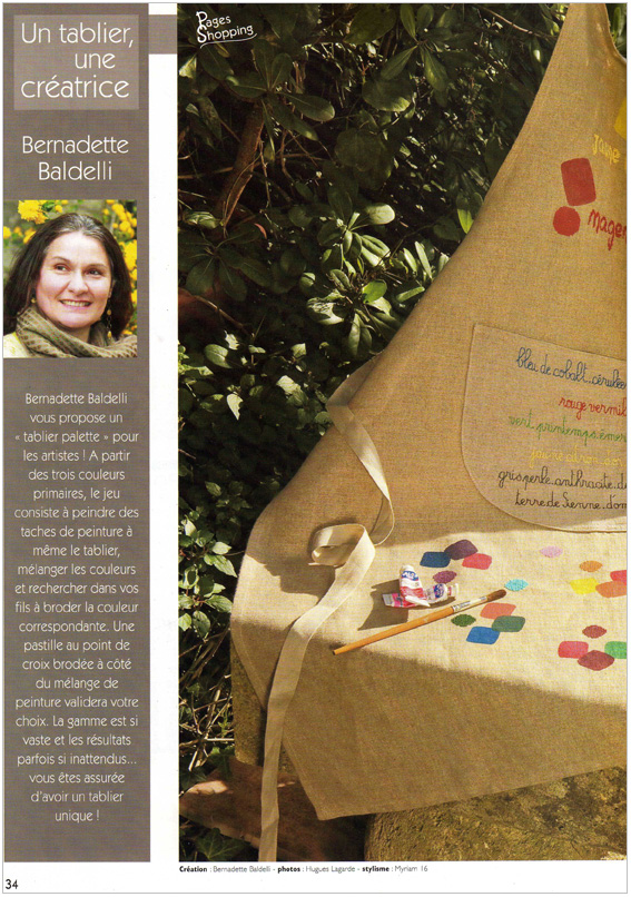 Article Bernadette Baldelli Point de Croix Magazine n°62 p.1