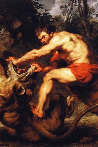 Samson et le lion, Rubens, 1633-1634