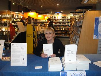 Cathy Bohrt au Centre Culturel Leclerc de Moisselles.