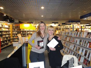 Léna Constantin et Cathy Bohrt au Centre Culturel Leclerc de Moisselles.