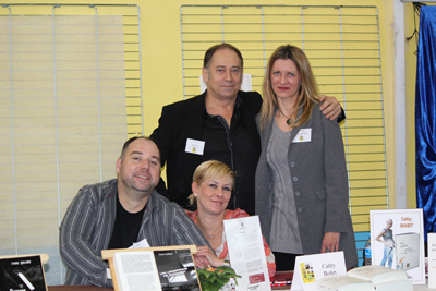 De gaughe à droite : Cyric Guillard ; Luc Fortin ; Cathy Bohrt ; Léna Constantin
