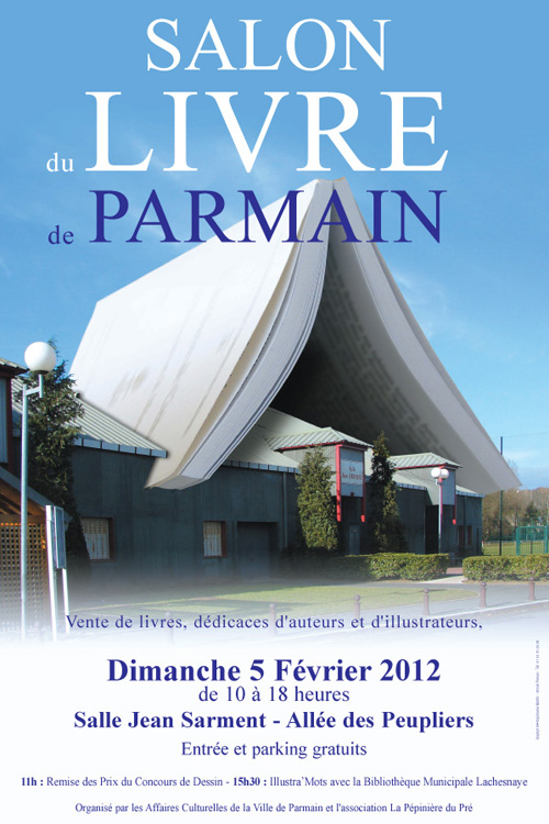 Affiche salon du livre Parmain 2012