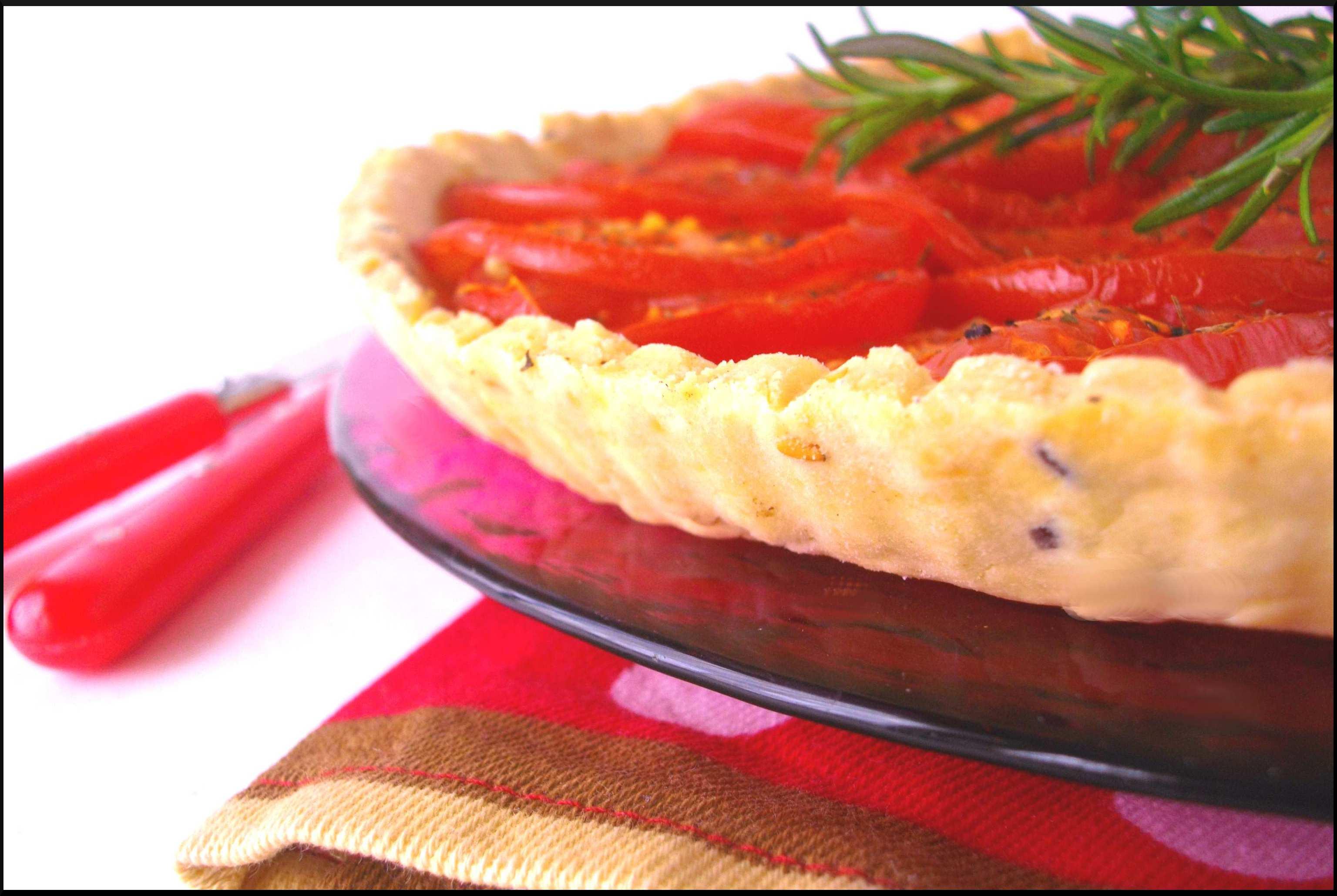 "Idée ''repas du soir"" : Tarte fine à la Tomate ..."