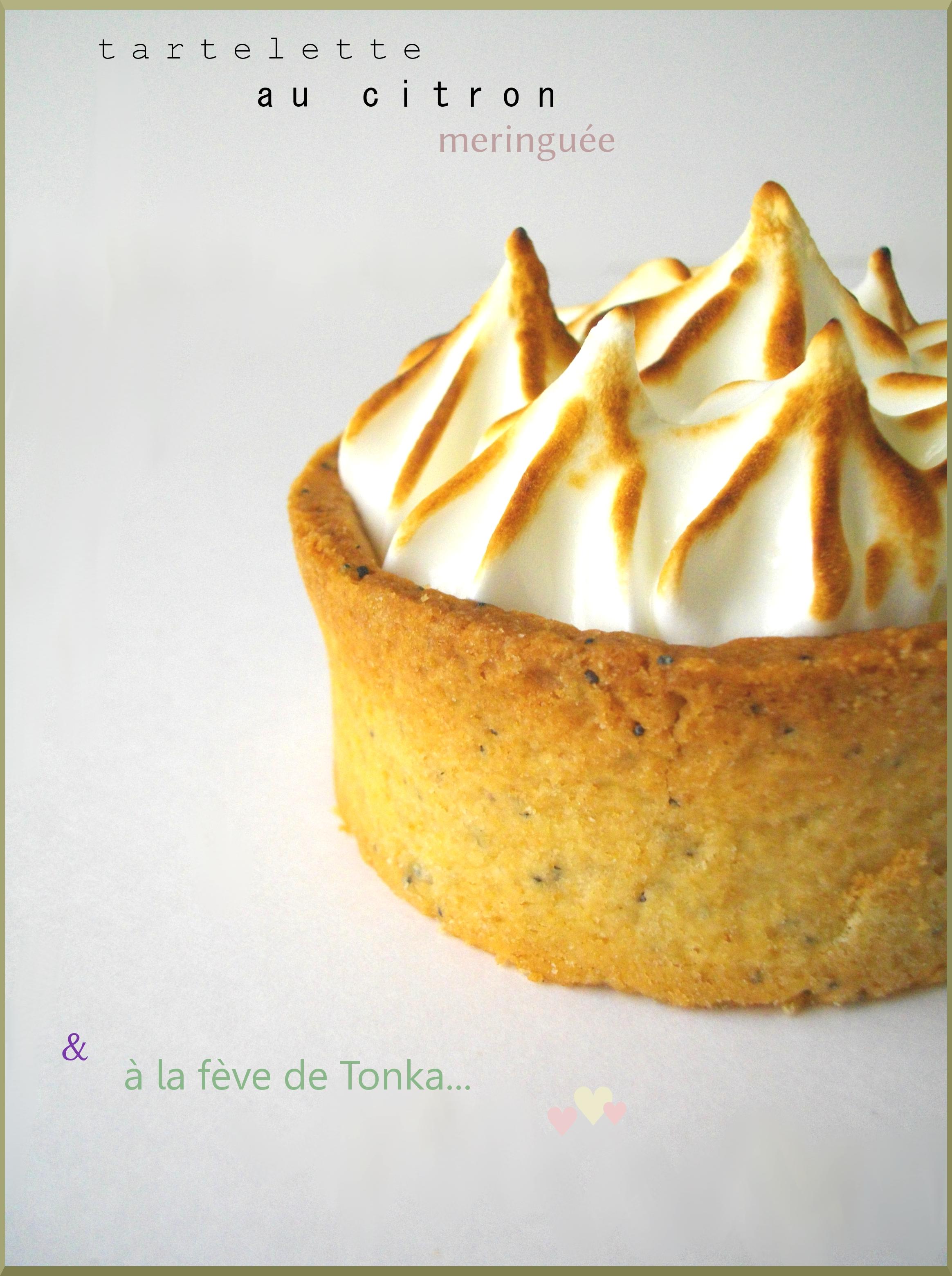 Tartelettes au citron meringuée & à la fève de Tonka ♥