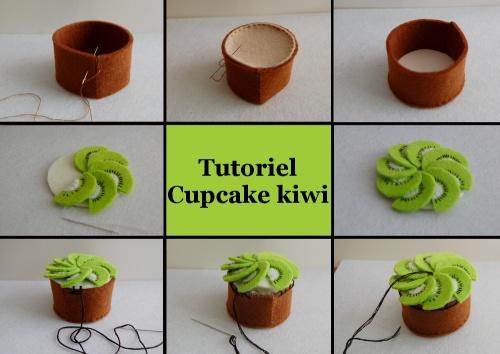 cupcake kiwi tutoriel