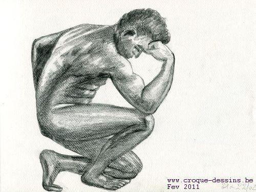 Homme musclé - Croque-dessins
