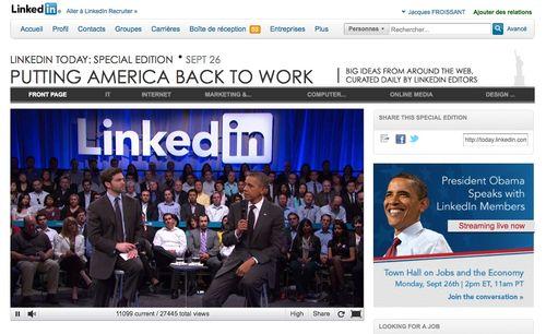 Retour sur l'intervention du Président Obama sur Linked In