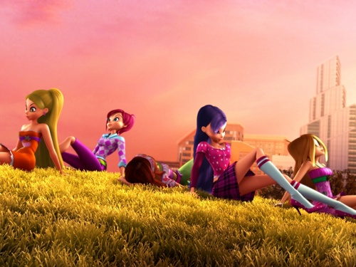 Stella,Techna,Musa,Flora et Layla dans Winx