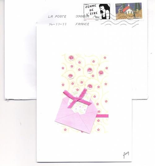 Une jolie surprise au courrier....