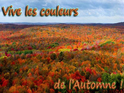 VIVE L'AUTOMNE ET SES BELLES COULEURS...