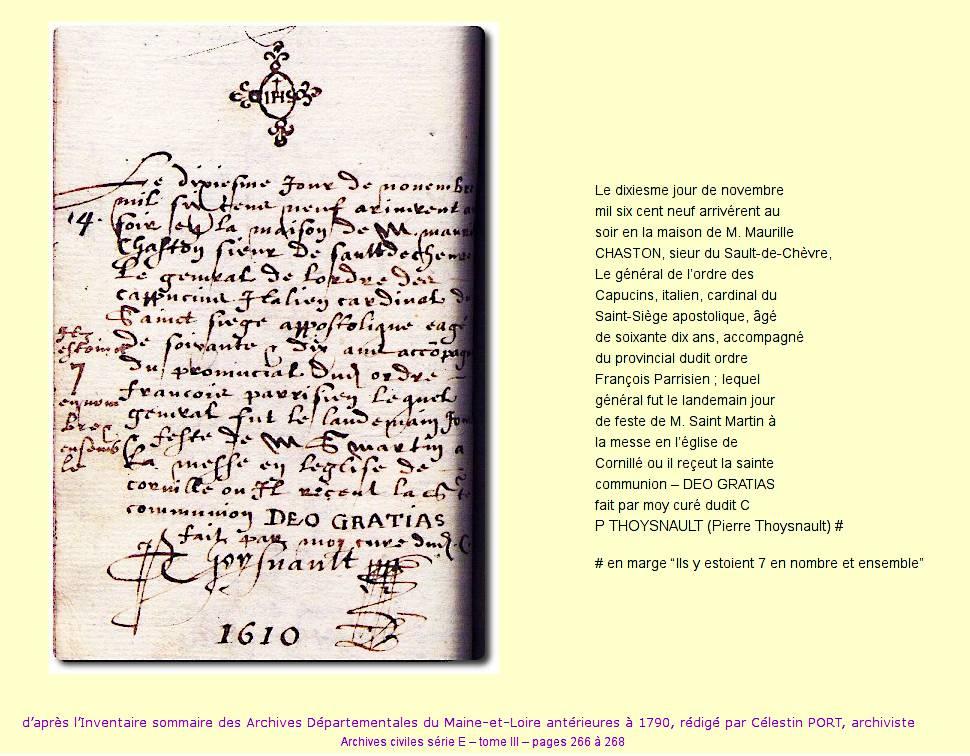 Cornillé 1609