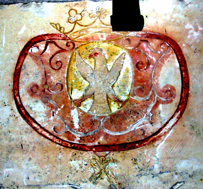 détail plaque commémorative permière pierre autel église Mazé
