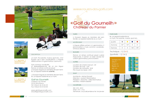 Graphiste, illustrateur, Pays Basque, Pyrénées Atlantiques, Projet route des golfs