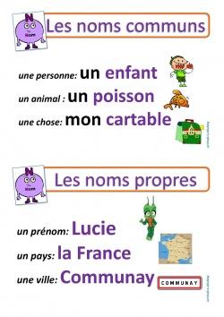 affichage grammaire : le nom - la Fouine en clis