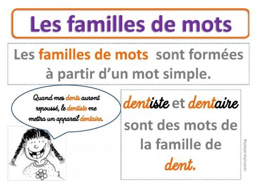 Chapitre 2 vocabulaire 3 me - Mot de la meme famille que fleur ...