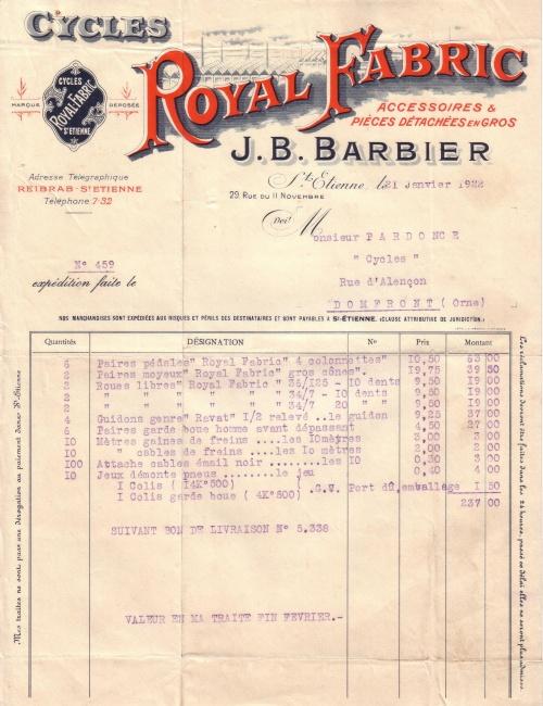 1922 : Royal Fabric dans Vie de Lucien