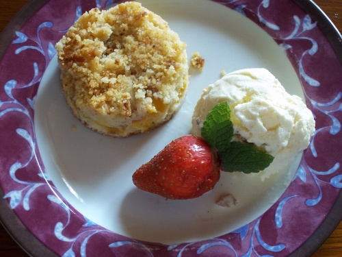 Crumble aux prunes Thermomix