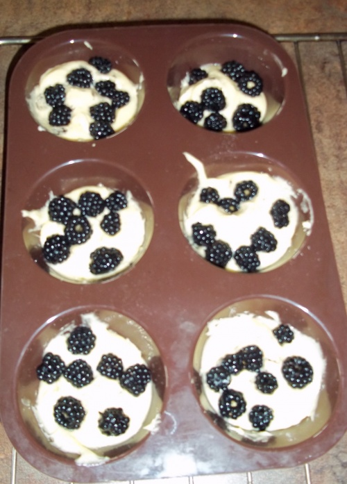 Muffins aux mures au thermomix