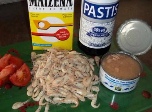 Bisque de crevettes et thon au THERMOMIX