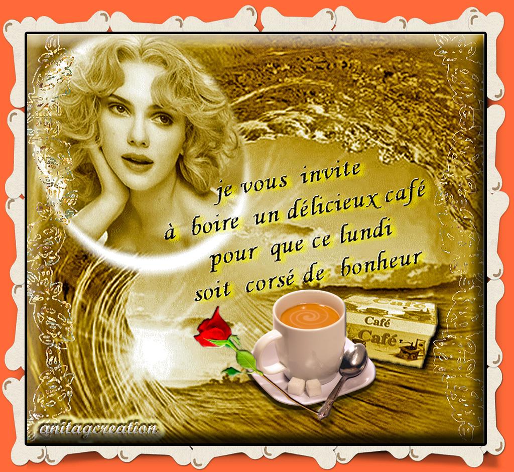 beau lundi avec un bon café pour commencer la journée