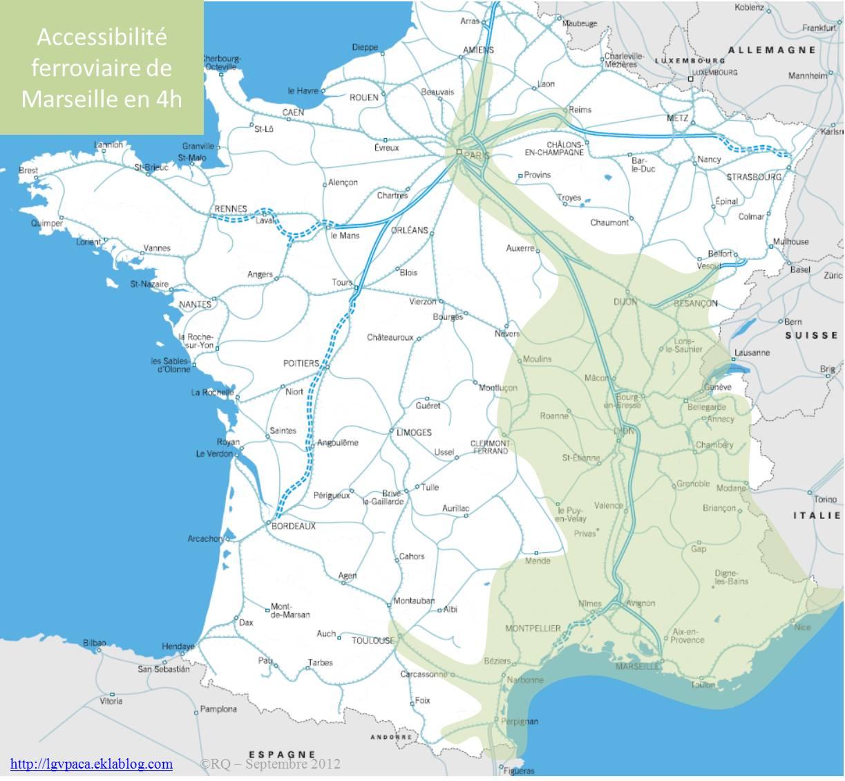 Accessibilité ferroviaire de Marseille