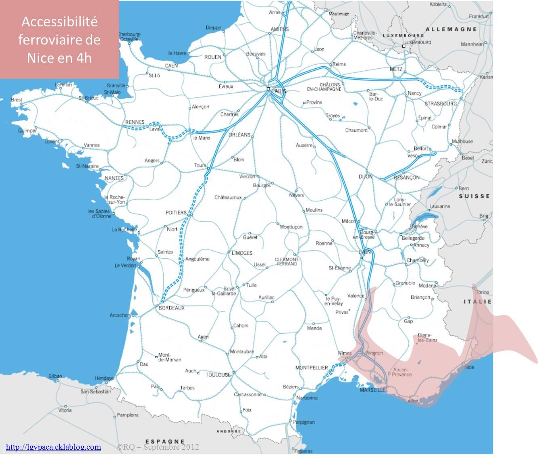 Accessibilité ferroviaire de Nice