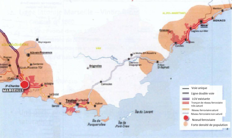 Saturation du réseau ferroviaire en PACA