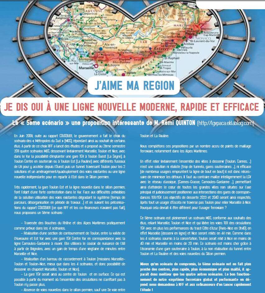 LGV PACA : Discussions entre amis sur le cinquième scénario