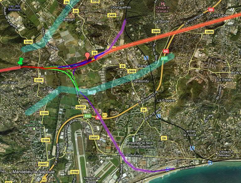 Approfondissement de la proposition de tracé dans les Alpes Maritimes