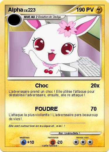 Alpha (des Jewelpet) dans Carte Pokemon en autres personnages