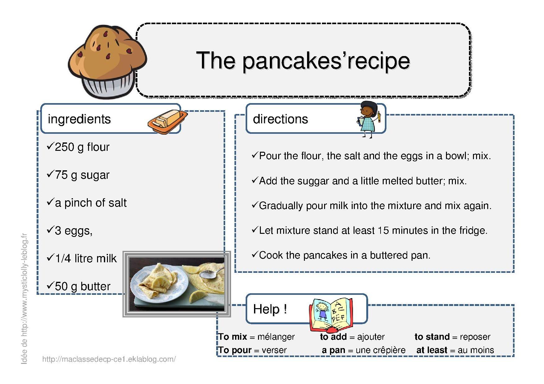 Recette en anglais: des pancakes, so british!