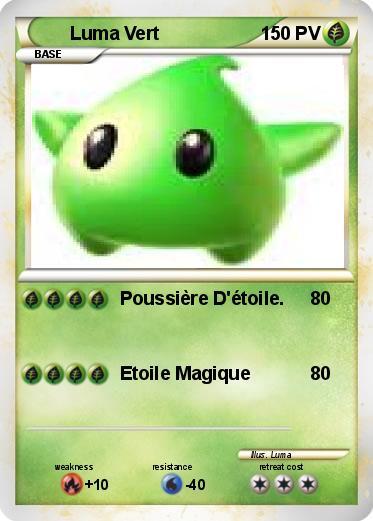 Luma Vert  dans Carte Pokemon en autres personnages