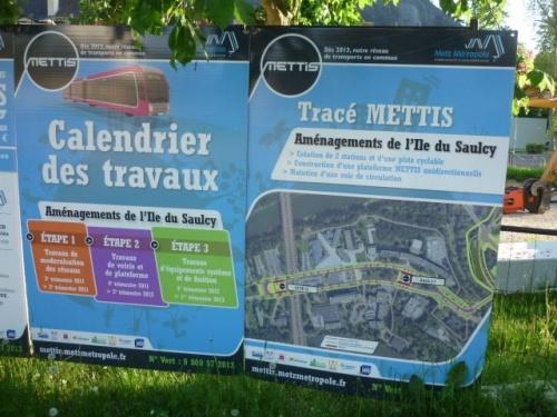 Travaux Mettis de l'Ile du Saulcy