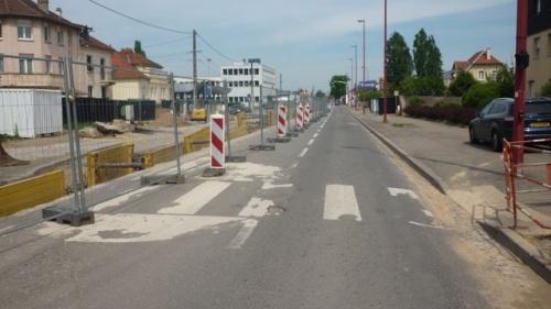 Travaux Mettis route de Thionville