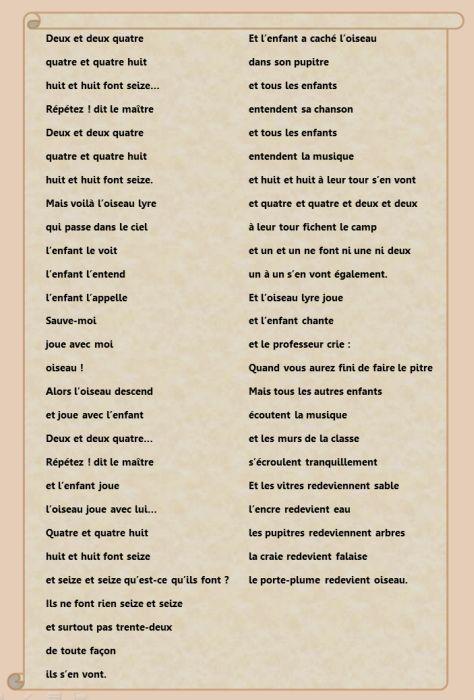 prévert poème travail