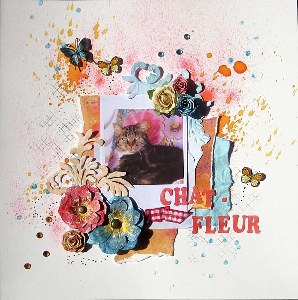 Chat-fleur