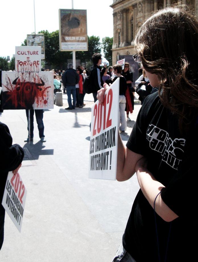 nea - Paris - Rassemblement Anti Corrida