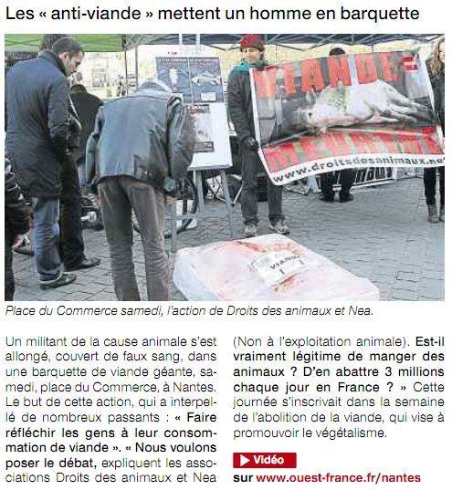 Abolition de la viande - nea dda - Nantes - Janvier 2011