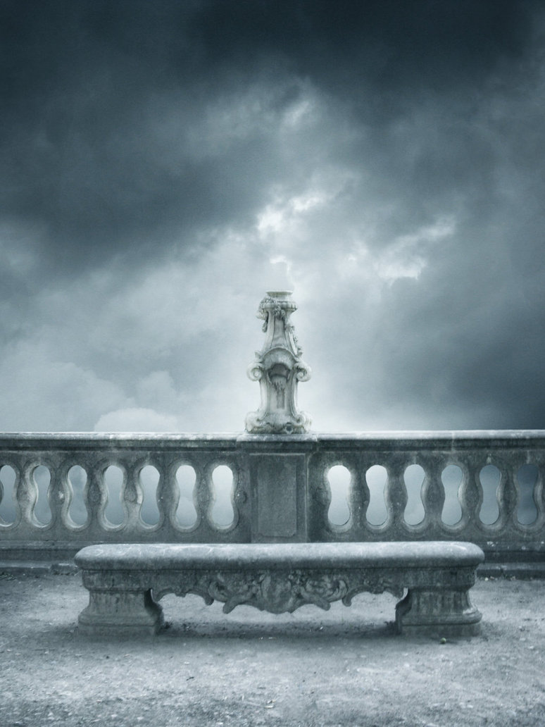 Pin gothic balcony on a clif angels wallpapers hi on pinterest for Balcony wallpaper