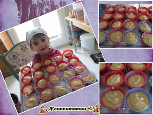 Muffins aux amandes et au jus de clémentines