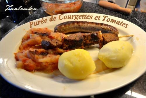 Zaalouka de Courgettes et Tomates