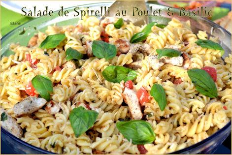 Salade de Pâtes Poulet & Basilic