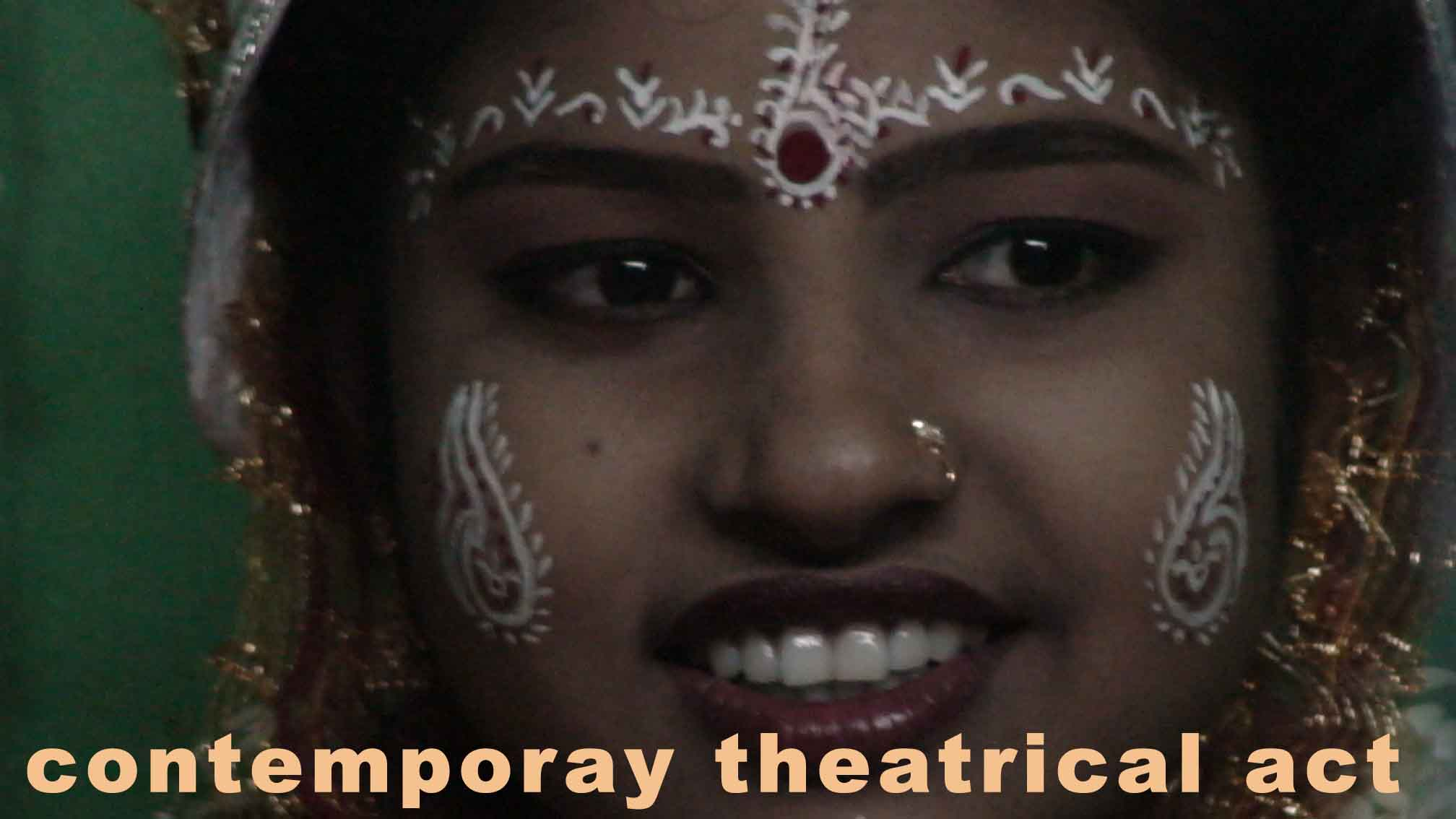 The contemporary theatrical act: presentation and symbols