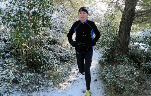 Petite entraînement dans la neige