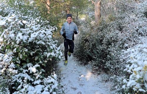 Petit entraînement dans la neige