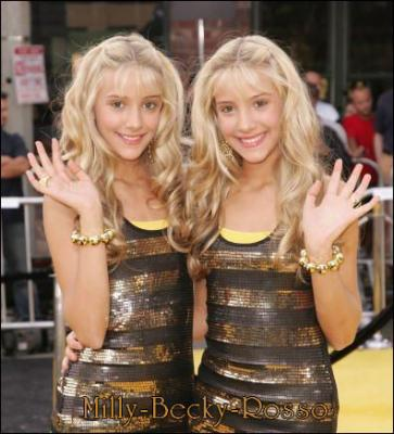 Milly And Becky Rosso Suite Life. Camilla and Rebecca Rosso